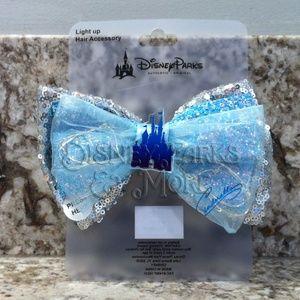 Disney Accessories - Disney Light Up Cinderella Sequin/Glitter Hair Bow